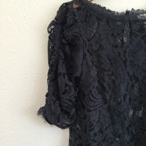 Sundance Tops - Sundance | Half Sleeve Lace Blouse Blue Size XS